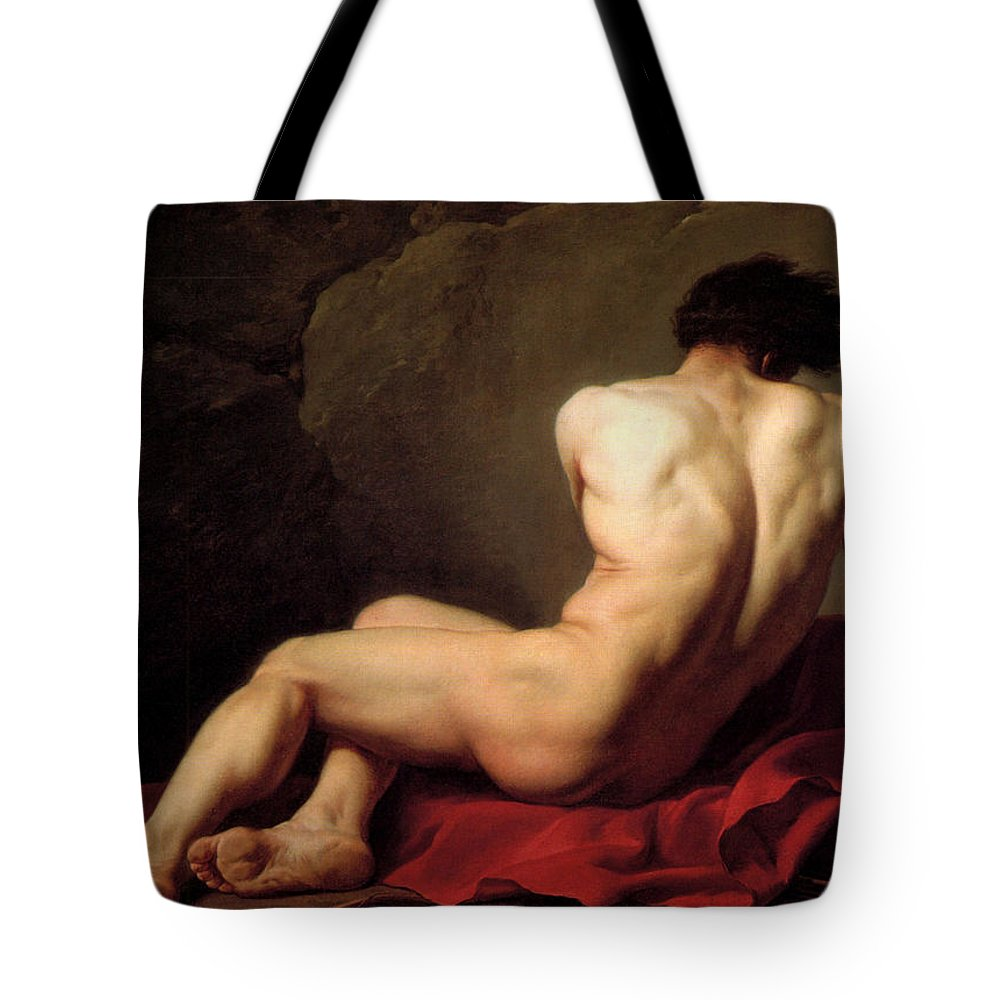 Jacques Louis David Tote Bag featuring the painting Patroclus by Jacques Louis David