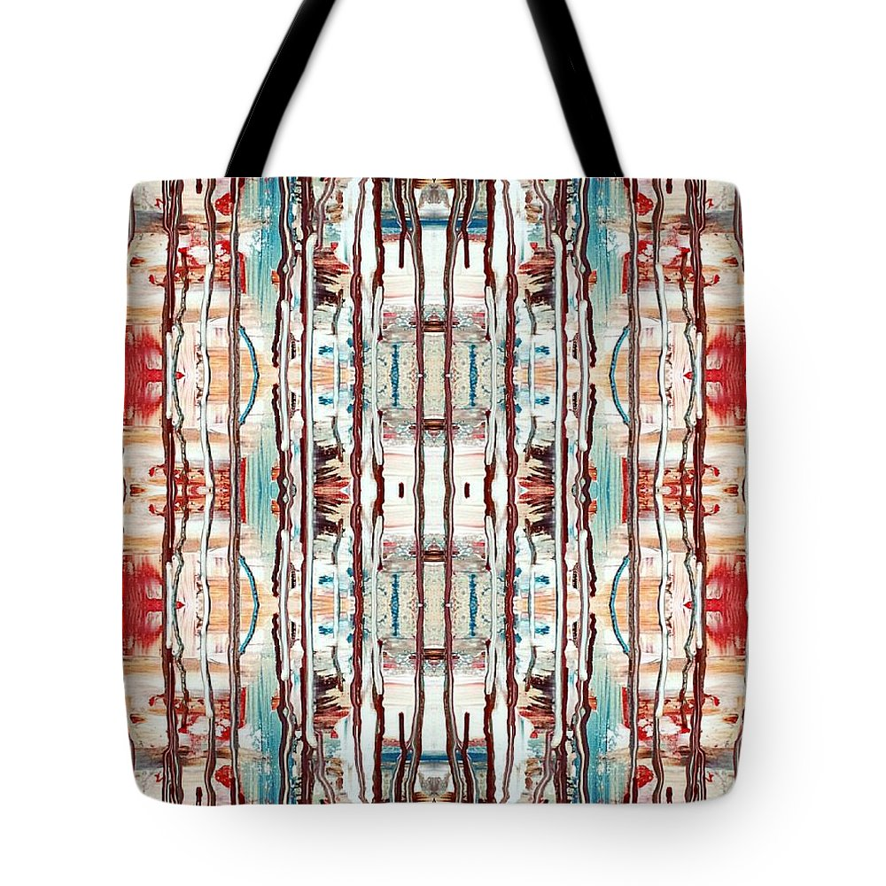 Patterns Tote Bag featuring the digital art Pattern 2 by Lady Ex