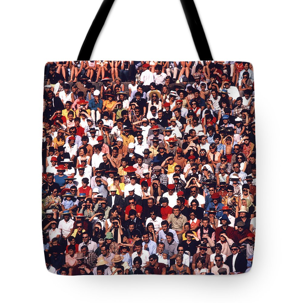 Football Tote Bag featuring the photograph Pattern Of Brave Footballers by Anthony Howarth