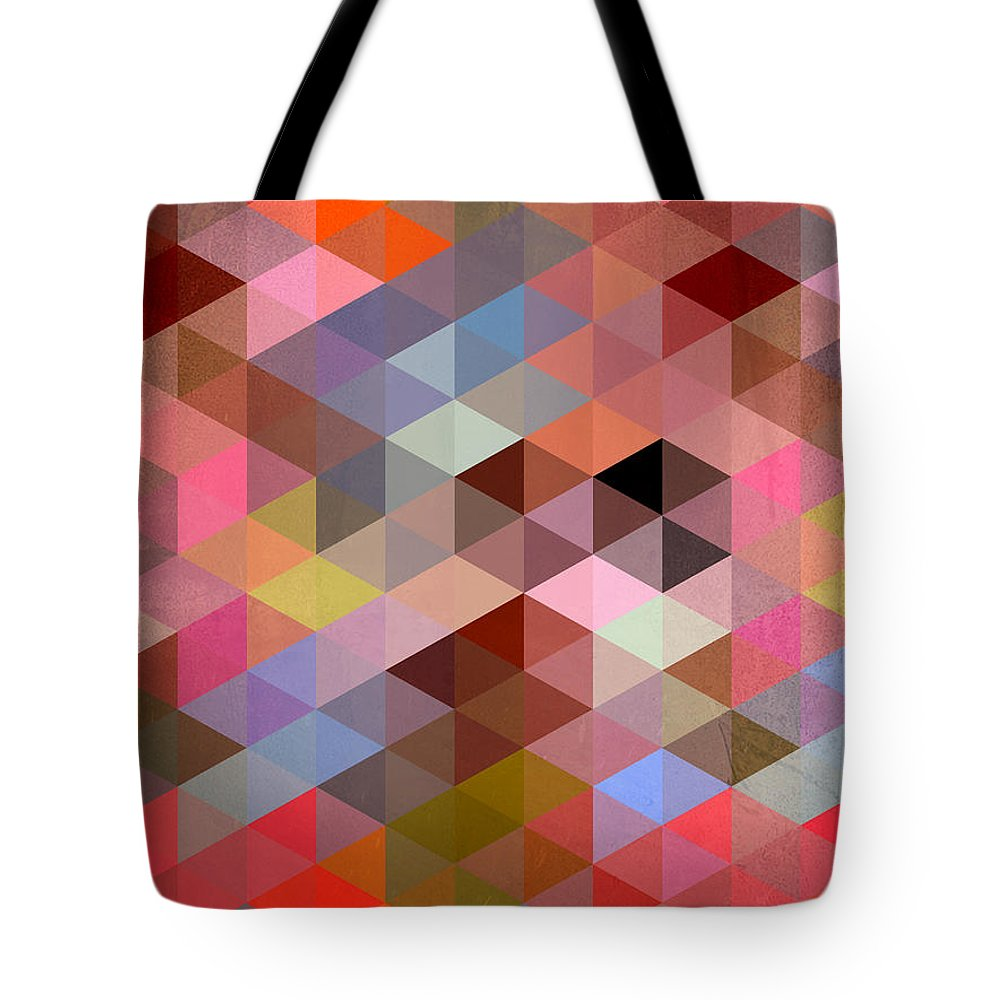Contemporary Tote Bag featuring the digital art Pattern Of Triangle by Mark Ashkenazi