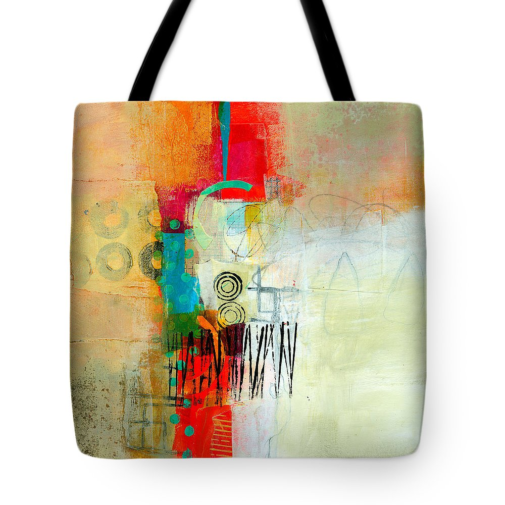 Acrylic Tote Bag featuring the painting Pattern Study #1 by Jane Davies