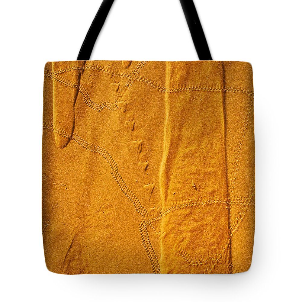 Vertical Tote Bag featuring the photograph Patterns And Animal Tracks On Sand by Alberto Arzoz