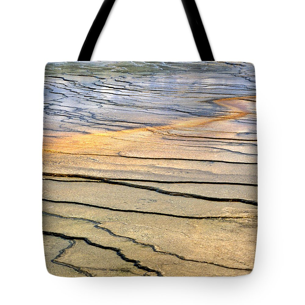 Patterns Tote Bag featuring the photograph Patterns At Yellowstone #1 by Sharon M Connolly