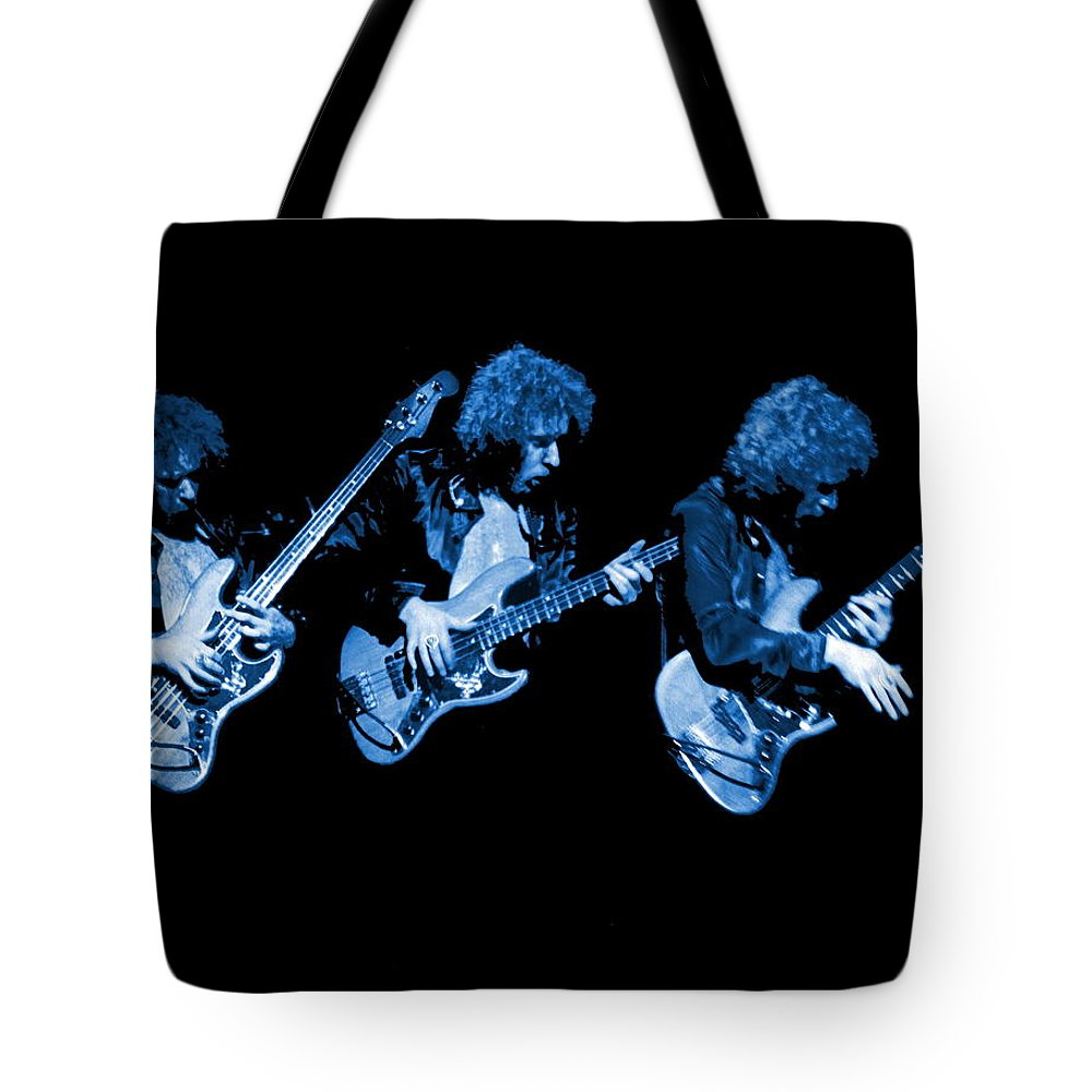 Paul Harwood Tote Bag featuring the photograph Paul Harwood Of Mahogany Rush Plays The Blues by Ben Upham
