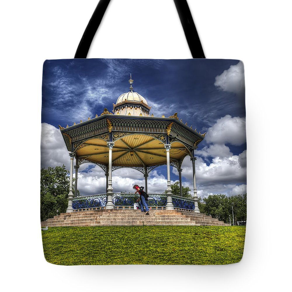 Park Tote Bag featuring the photograph Pavillion by Wayne Sherriff