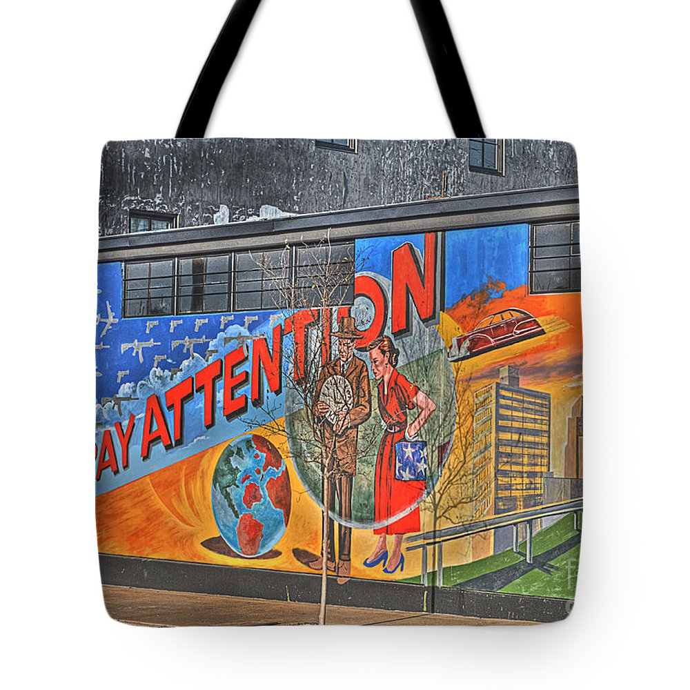 Tote Bag featuring the photograph Pay Attention by Hilton Barlow