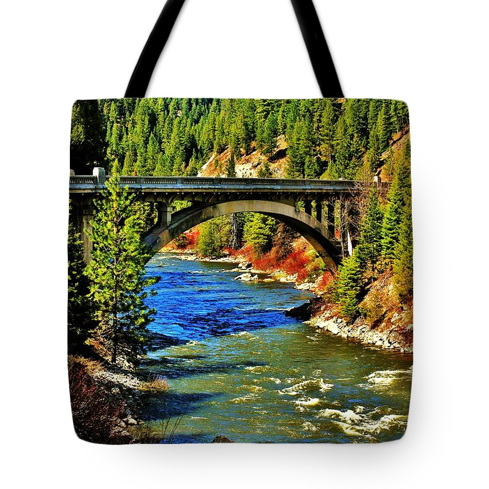 Idaho Tote Bag featuring the photograph Payette River Scenic Byway by Benjamin Yeager