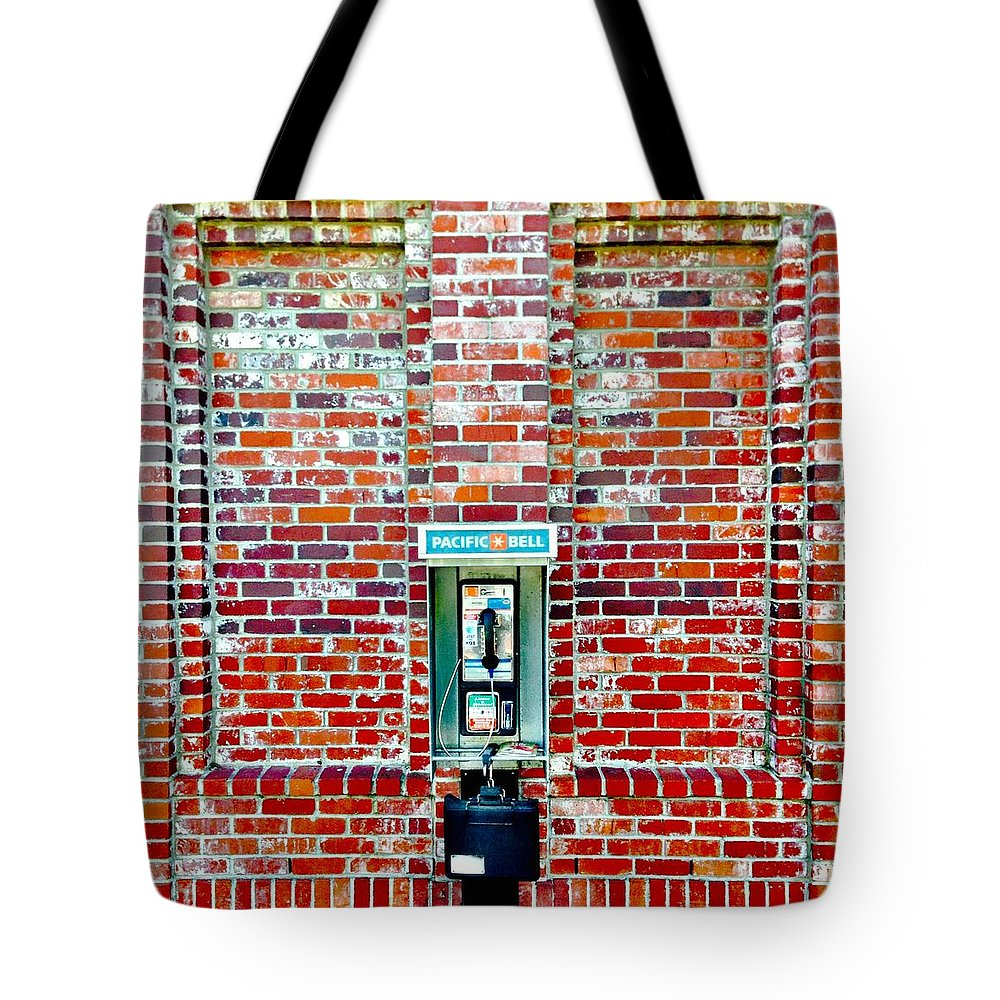 #payphone Tote Bag featuring the photograph Payphone by Julie Gebhardt