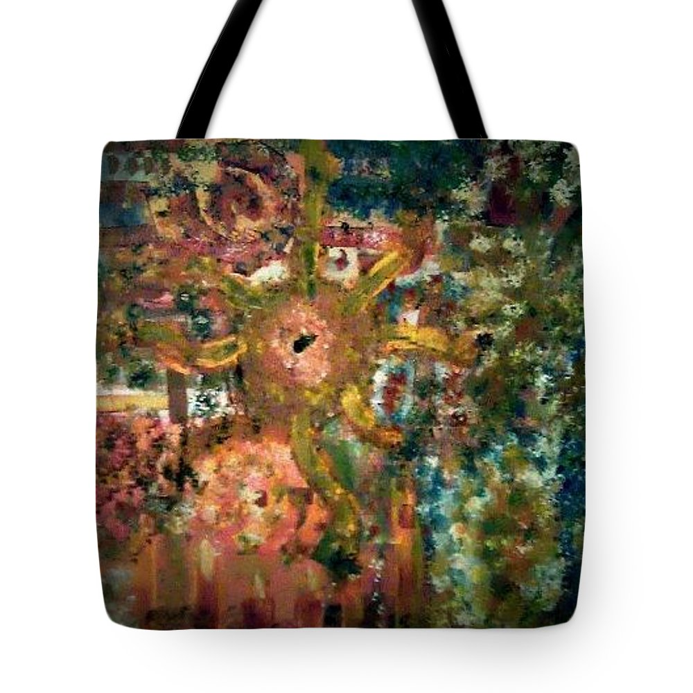 Abstract Tote Bag featuring the painting Peace And Love by Lisa S Patti