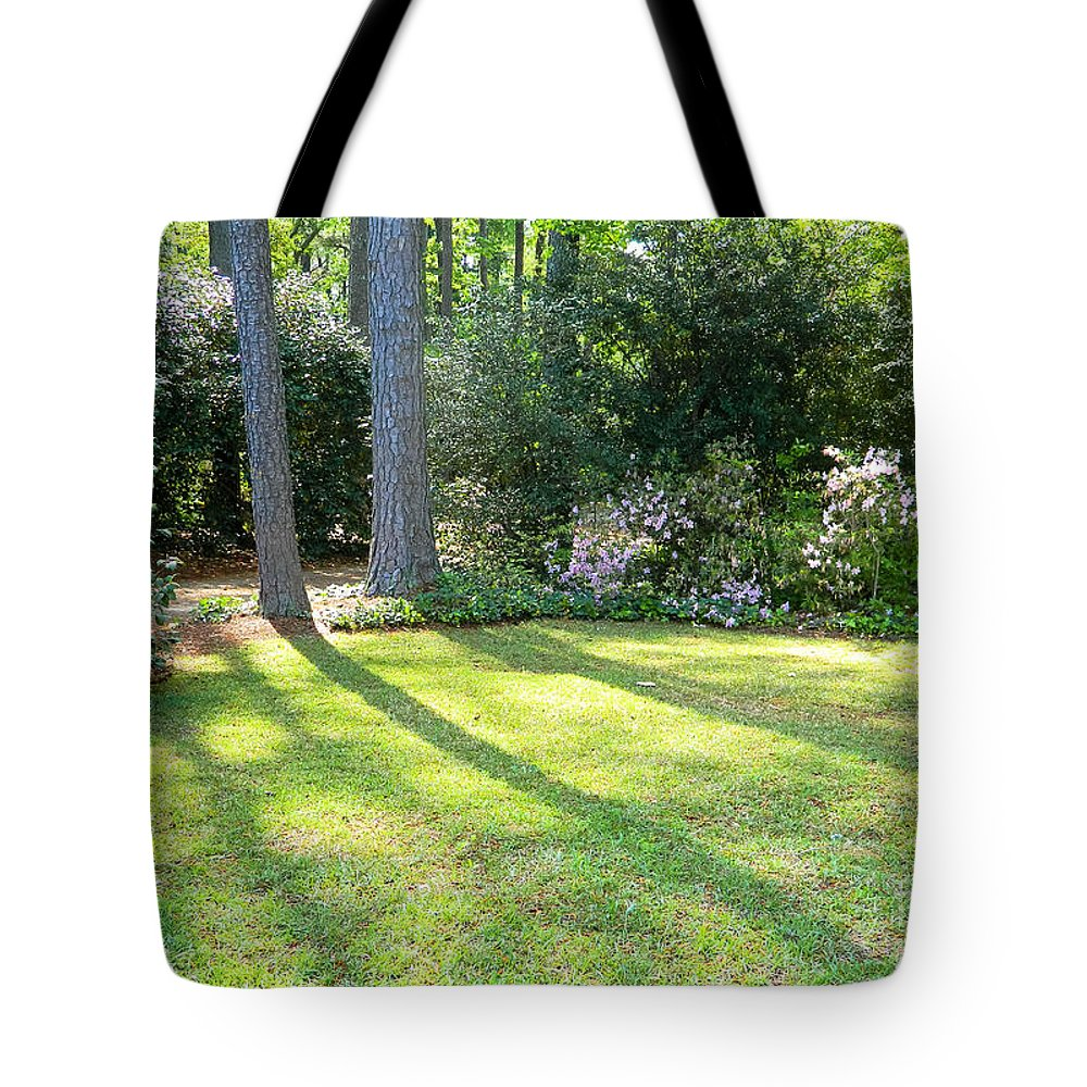 Red Tote Bag featuring the photograph Peace by Andrea Anderegg