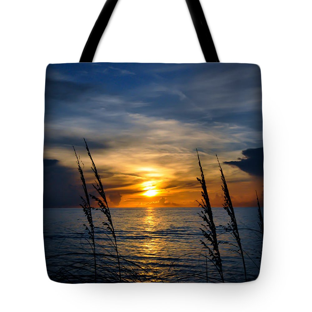 Peace Morning Tote Bag featuring the photograph God Is The Sun by Antonio Guerrero