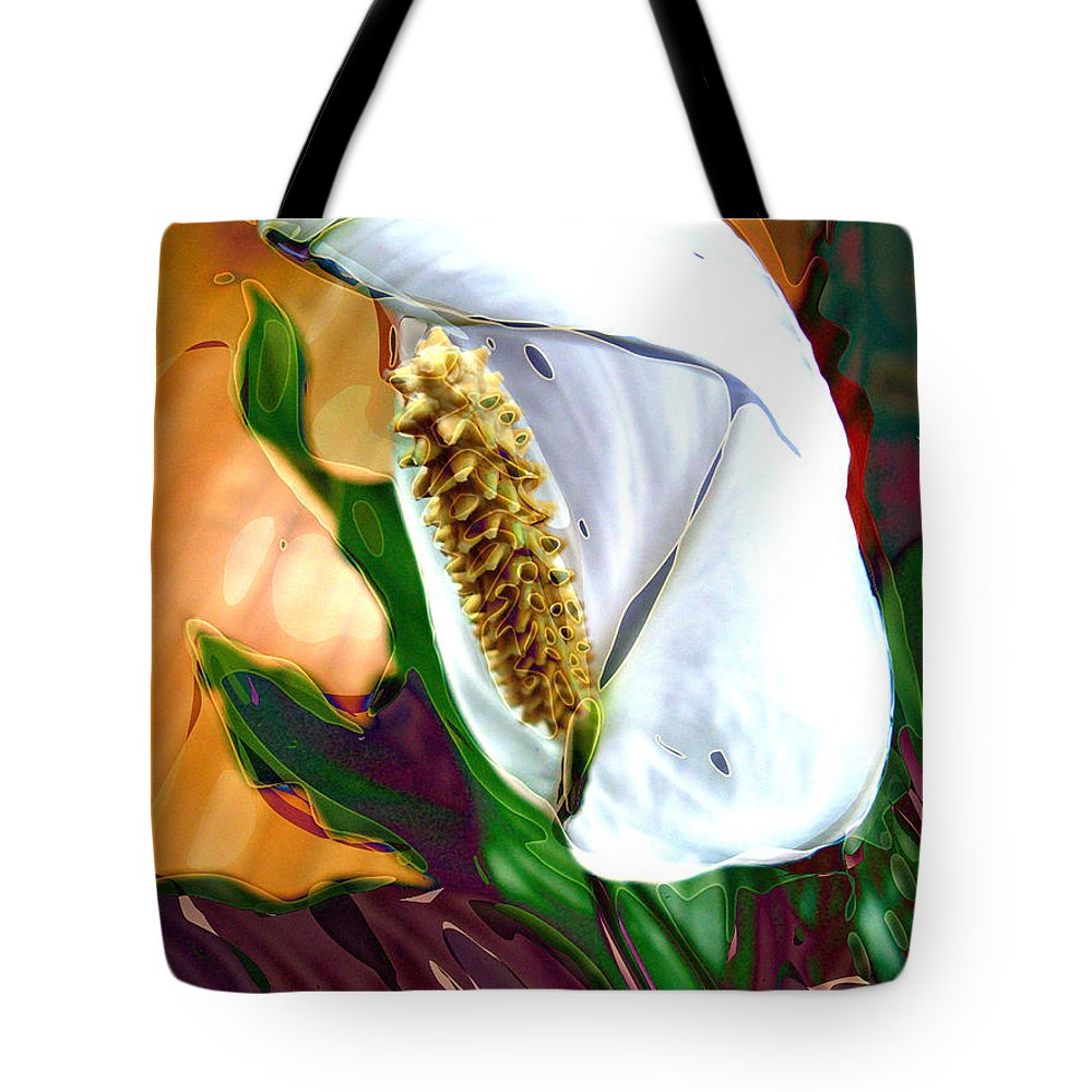 peace Lily Tote Bag featuring the photograph Peace Lily 2 by Dee Flouton