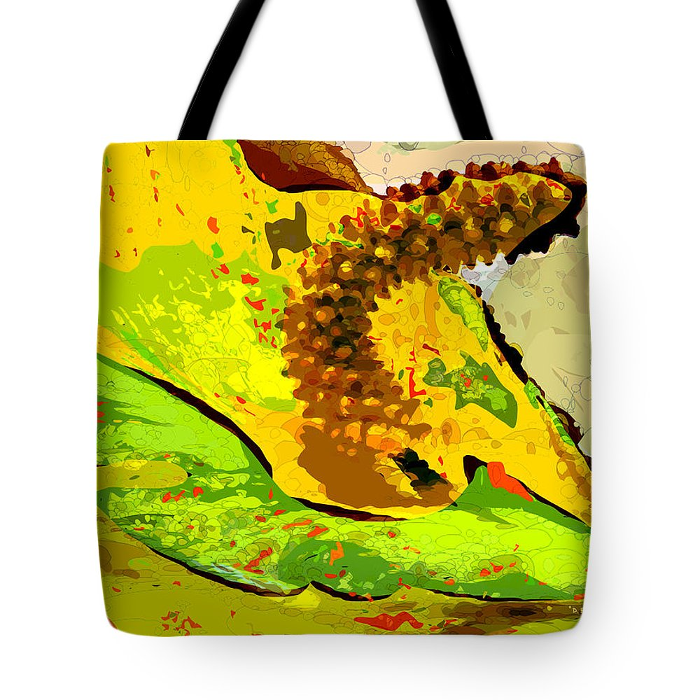 peace Lily' Tote Bag featuring the photograph Peace Lily Waning by Dee Flouton