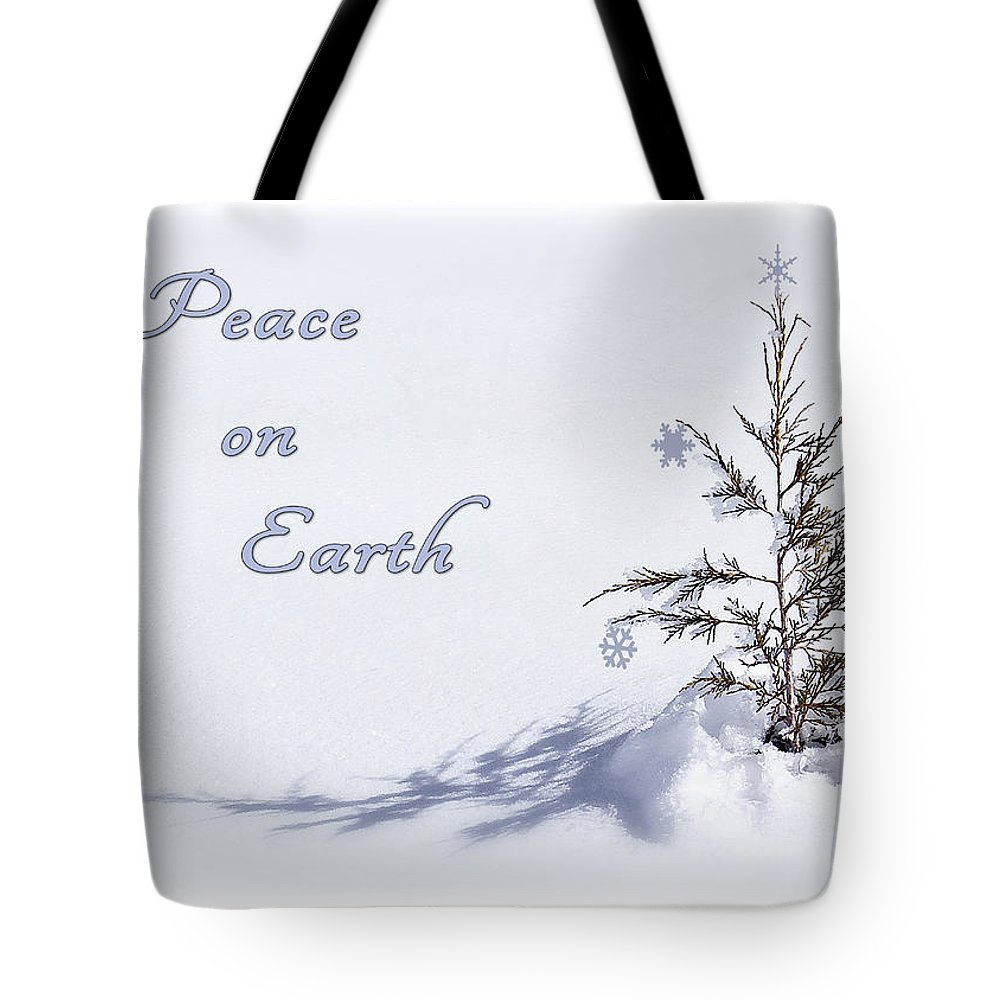 Christmas Card Tote Bag featuring the photograph Peace On Earth 2 by Priscilla Burgers