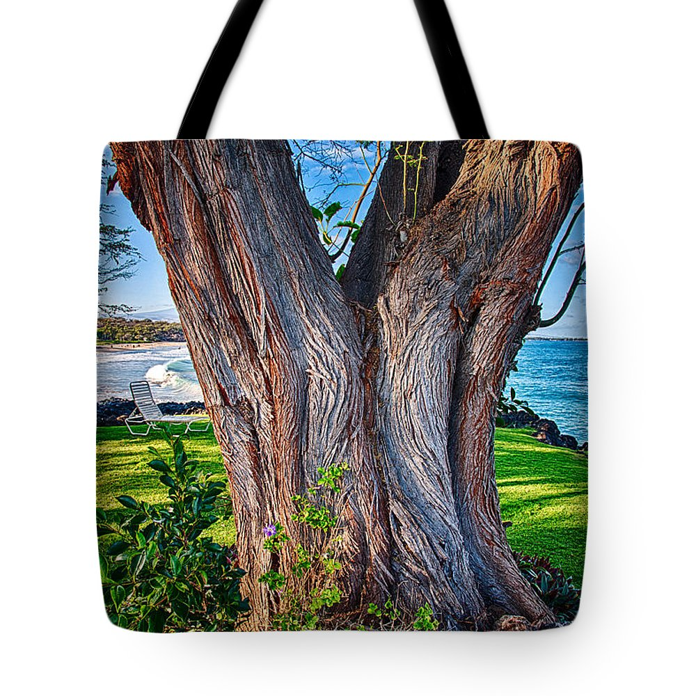 Abstract Tote Bag featuring the photograph Peace Tree by Omaste Witkowski