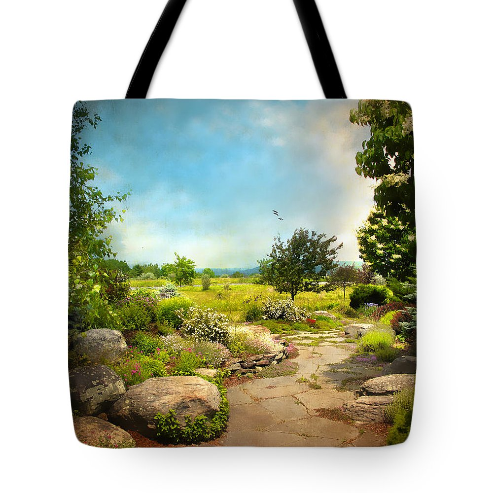 Landscape Tote Bag featuring the photograph Peaceful Path by Jessica Jenney