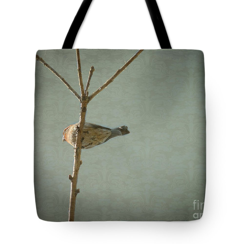 Bird Tote Bag featuring the photograph Peaceful Perch by Meghan at FireBonnet Art