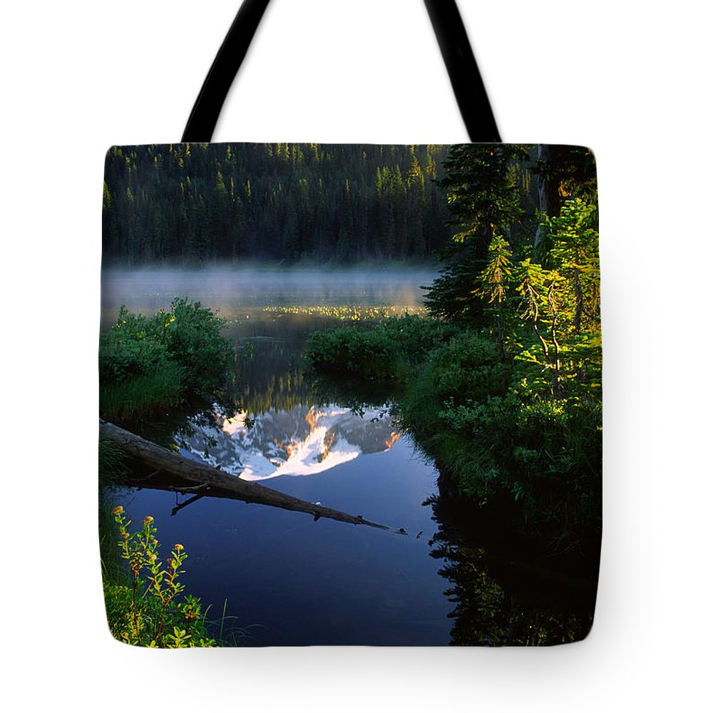 America Tote Bag featuring the photograph Peaceful Reflection by Inge Johnsson