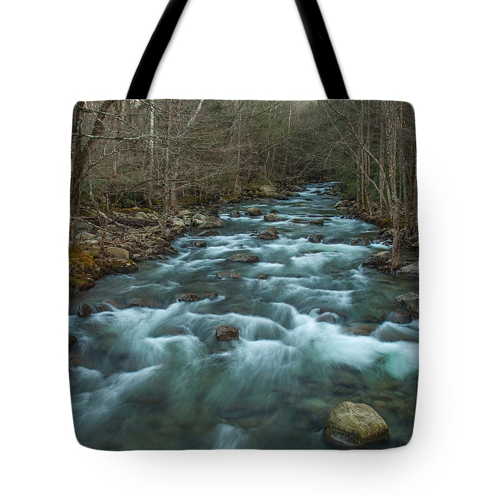 Little Pigeon Tote Bag featuring the photograph Peaceful River by Randy Walton