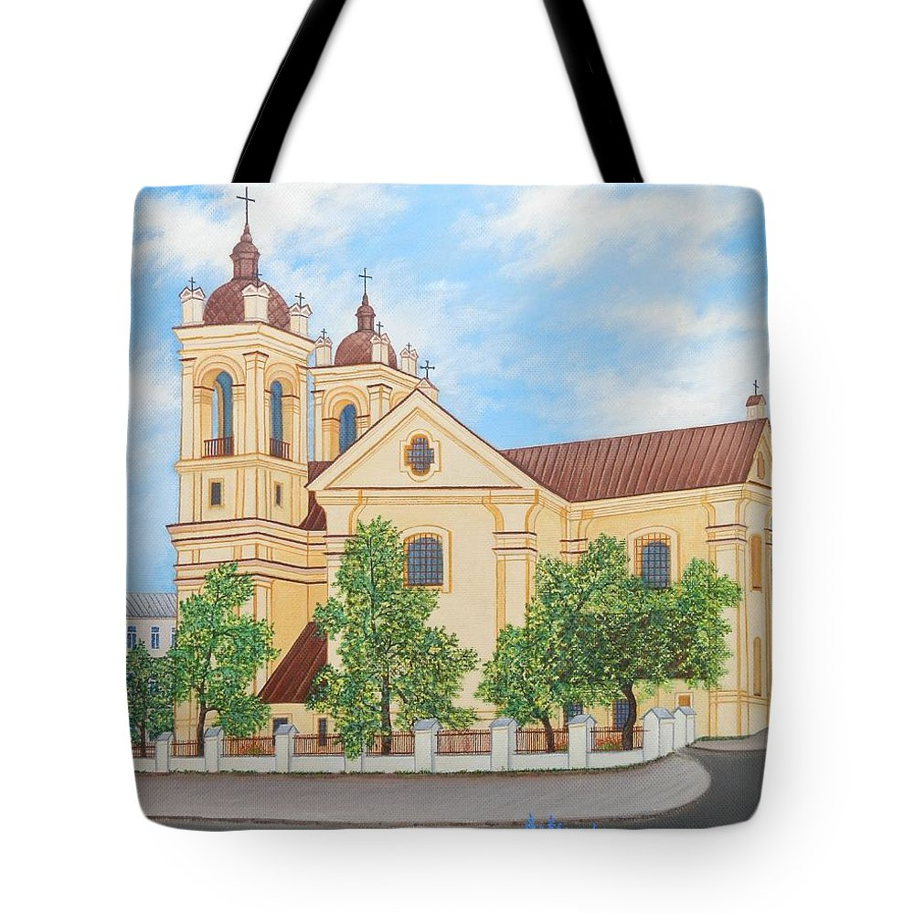 Summer Tote Bag featuring the painting Peaceful Summer Morning by Loreta Mickiene