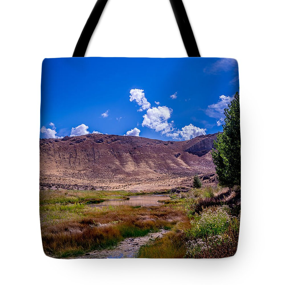 Mountain Tote Bag featuring the photograph Peaceful Valley II by Tex Wantsmore
