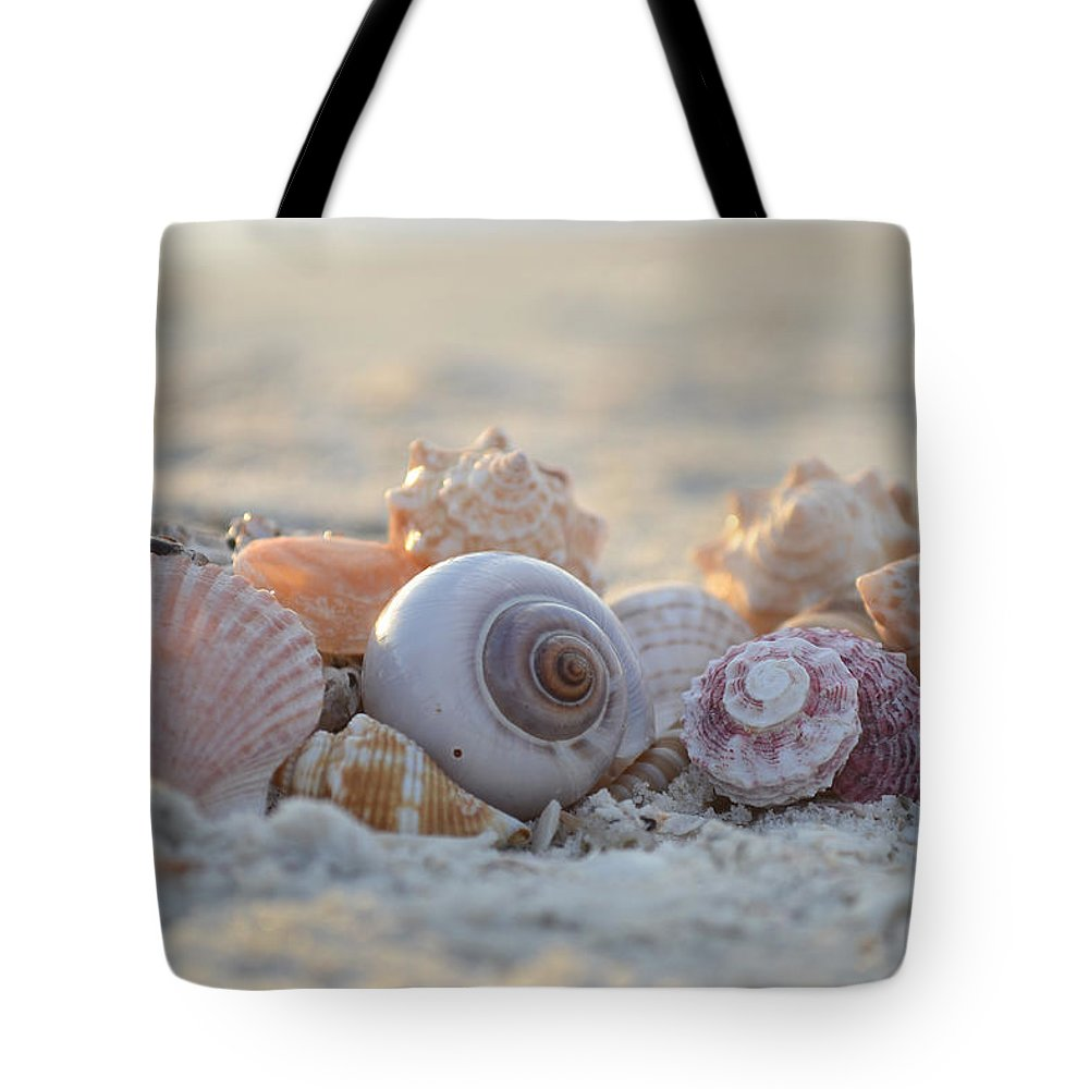 Seashell Tote Bag featuring the photograph Peaceful Whispers by Melanie Moraga