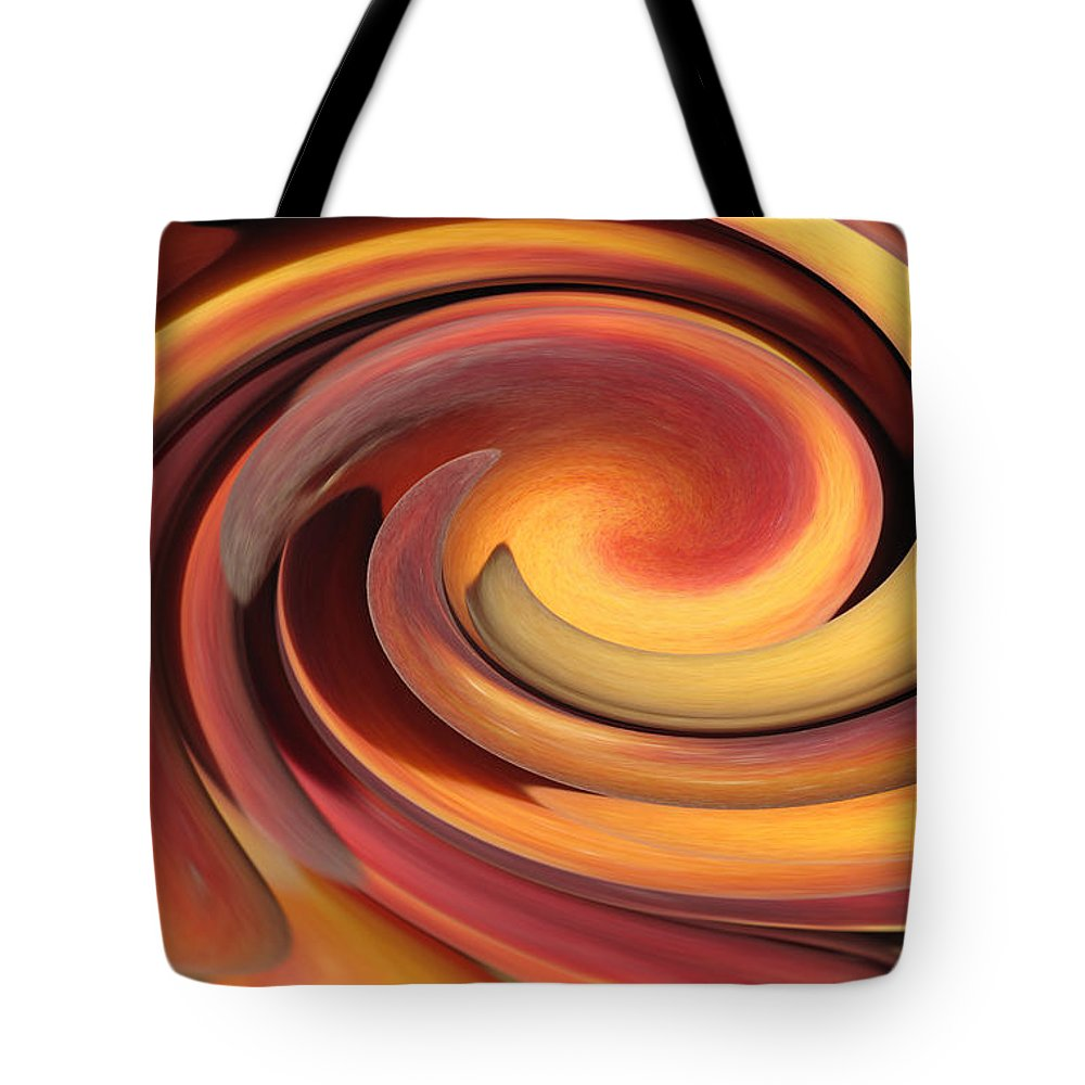 Abstract Tote Bag featuring the photograph Peach Fuzz by Barbara McDevitt