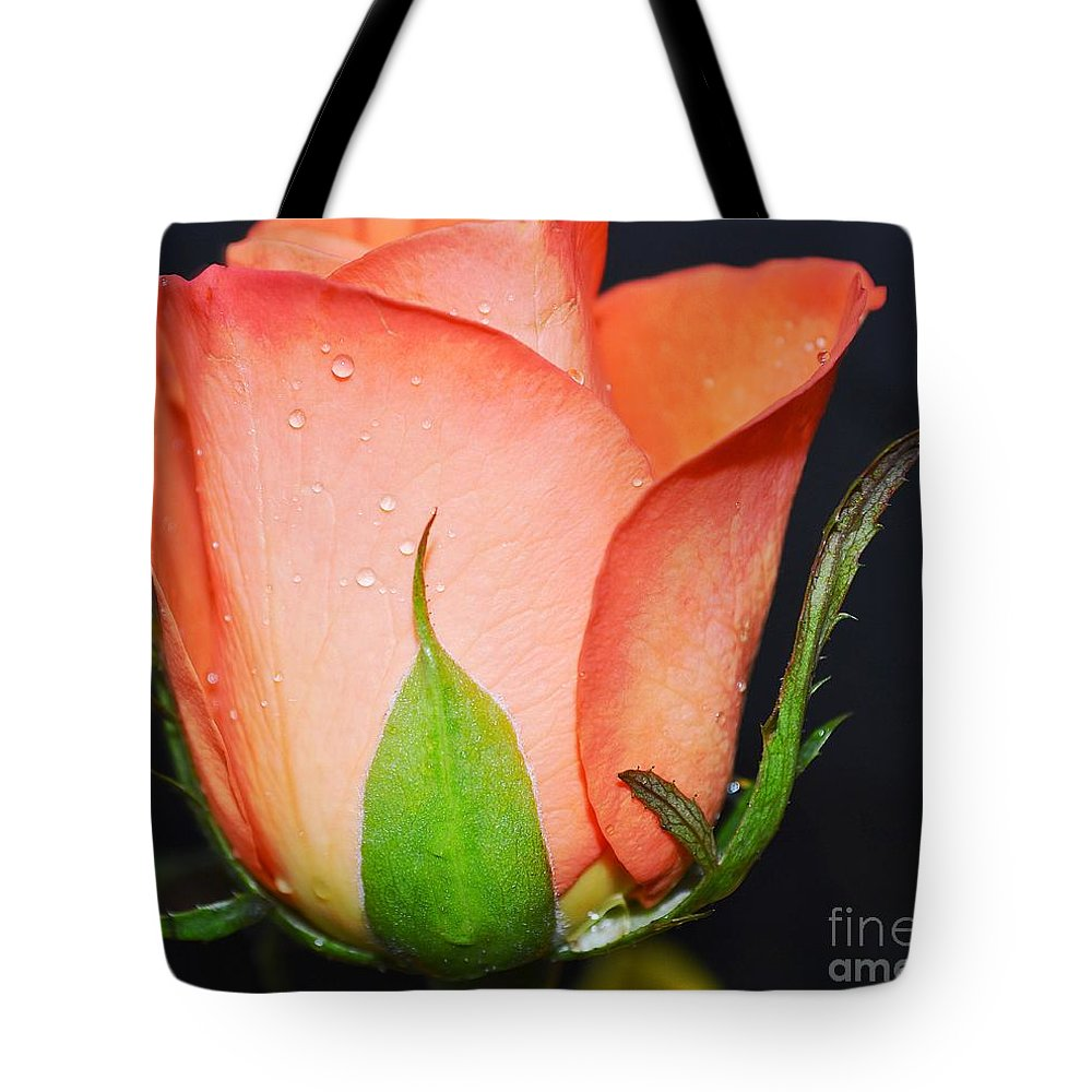 Rose Tote Bag featuring the photograph Peach Relish by Felicia Tica