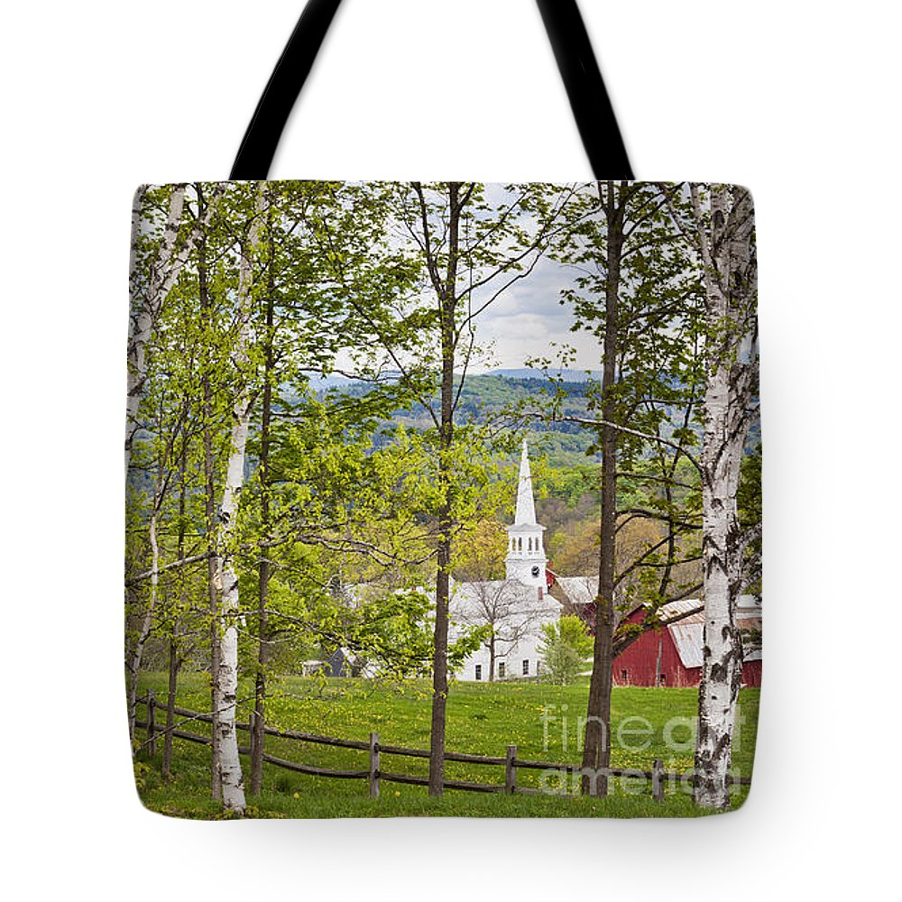 Spring Tote Bag featuring the photograph Peacham Vermont Spring by Alan L Graham
