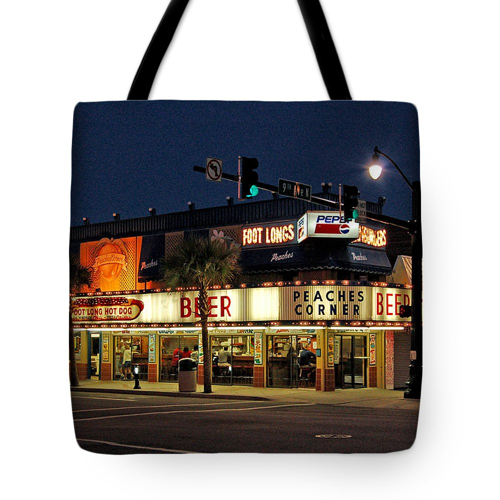 Peaches Corner Tote Bag featuring the photograph Peaches Corner by Suzanne Gaff