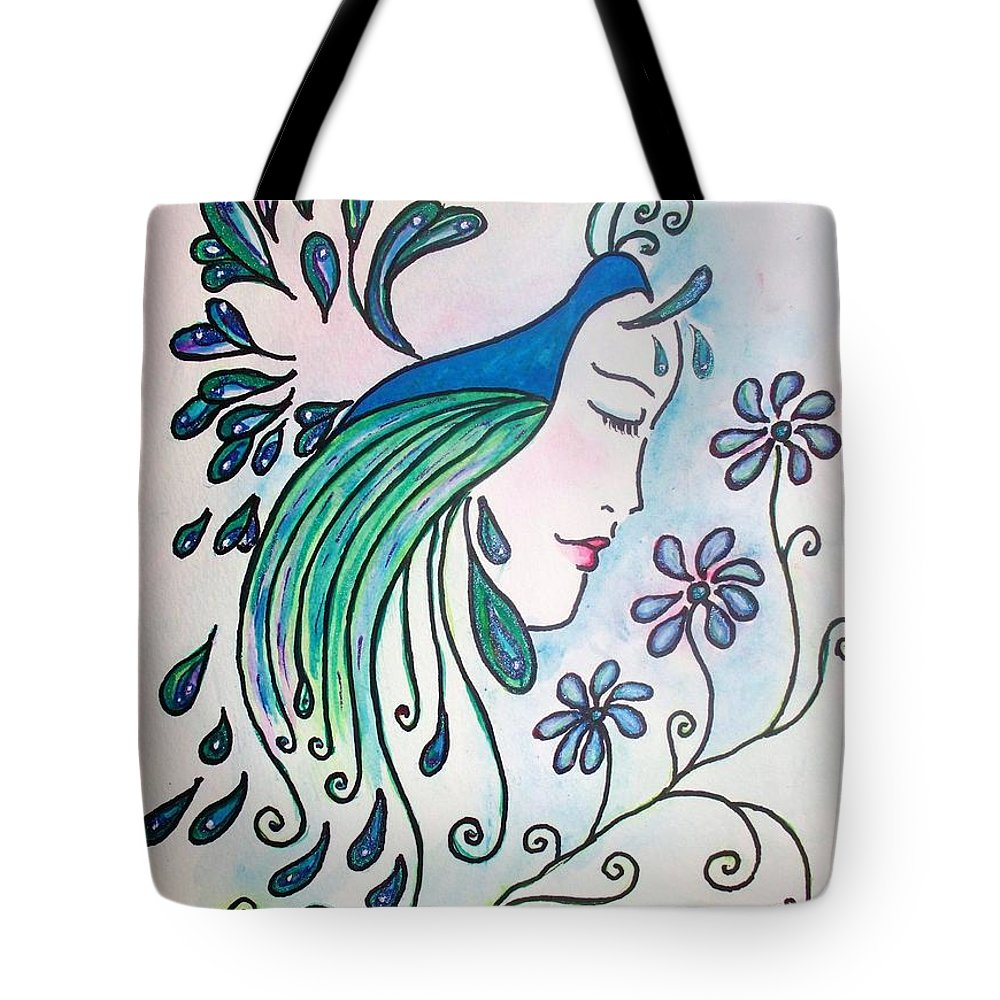 Peacock Tote Bag featuring the painting Peacock Dawn by Robin Monroe