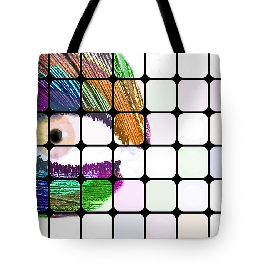 Peacock Tote Bag featuring the painting Peacock Eyes by Florian Rodarte