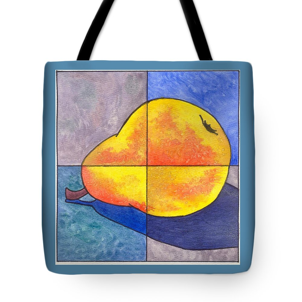 Pear Tote Bag featuring the painting Pear I by Micah Guenther