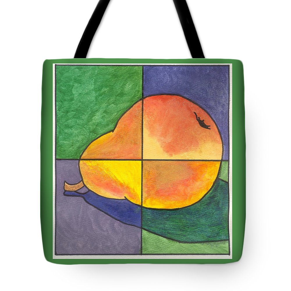 Pear Tote Bag featuring the painting Pear II by Micah Guenther