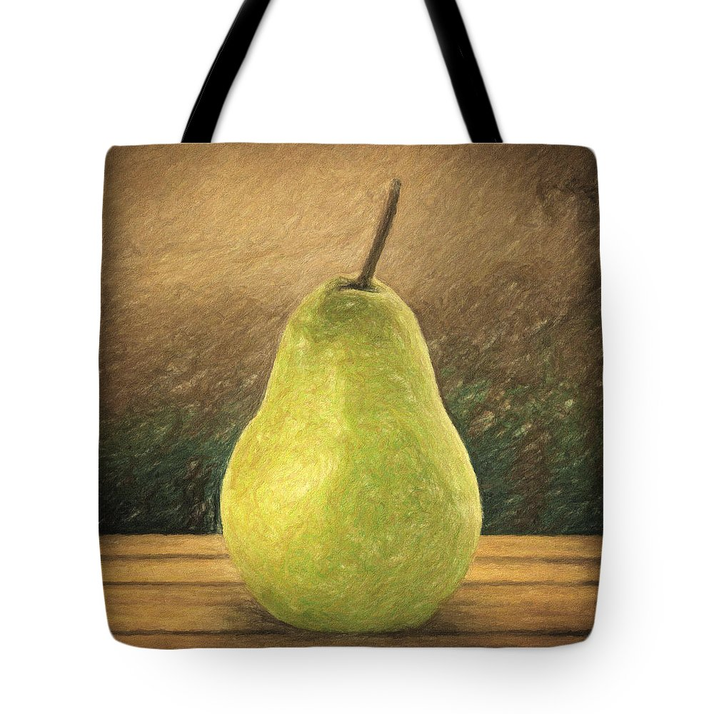 Still Life Tote Bag featuring the painting Pear by Zapista