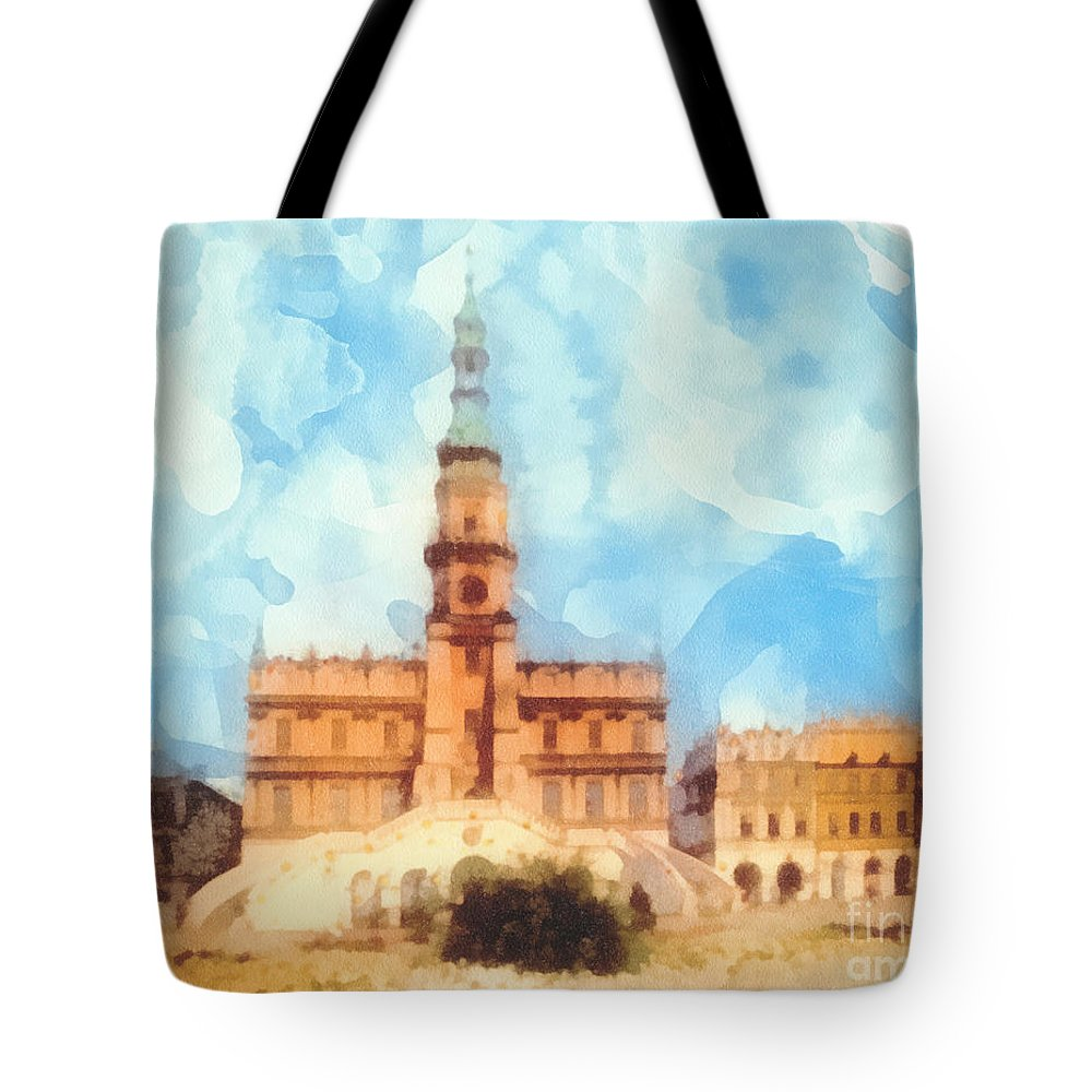 Pearl Of Renaissance Tote Bag featuring the painting Pearl Of Renaissance by Mo T