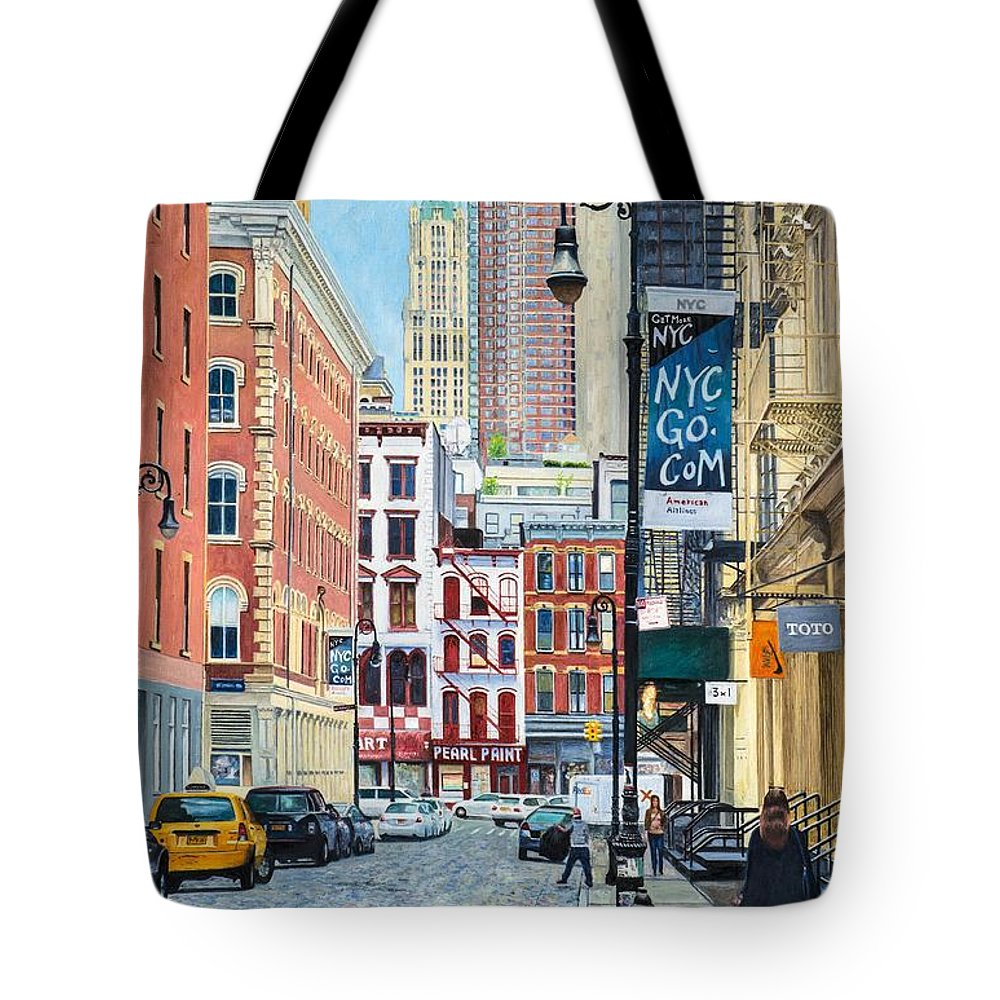 Pearl Paint Canal St. From Mercer St. Nyc Tote Bag for Sale by ...