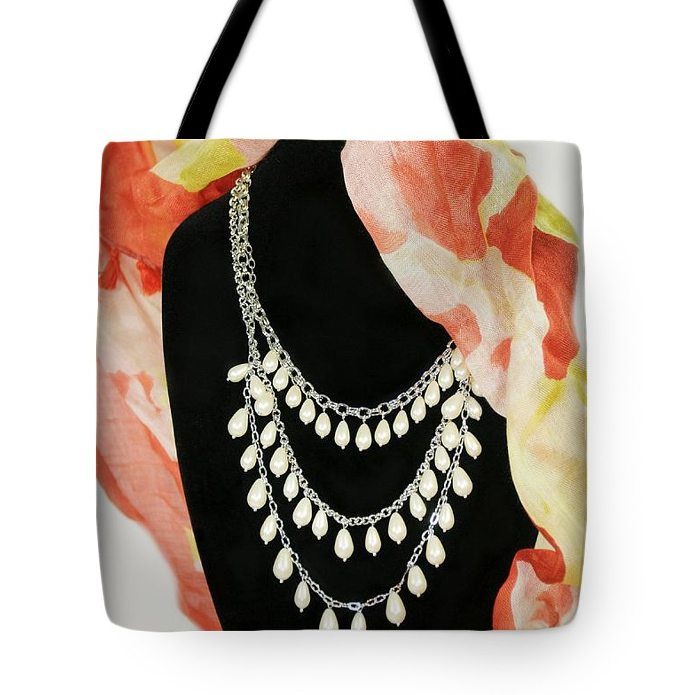 Accessories Tote Bag featuring the photograph Pearl Tiers by Diana Angstadt