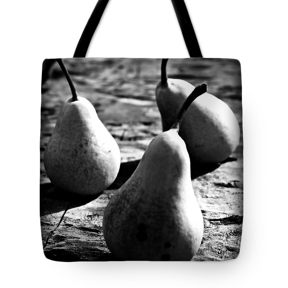 Pears Tote Bag featuring the photograph Pears by Clare Bevan