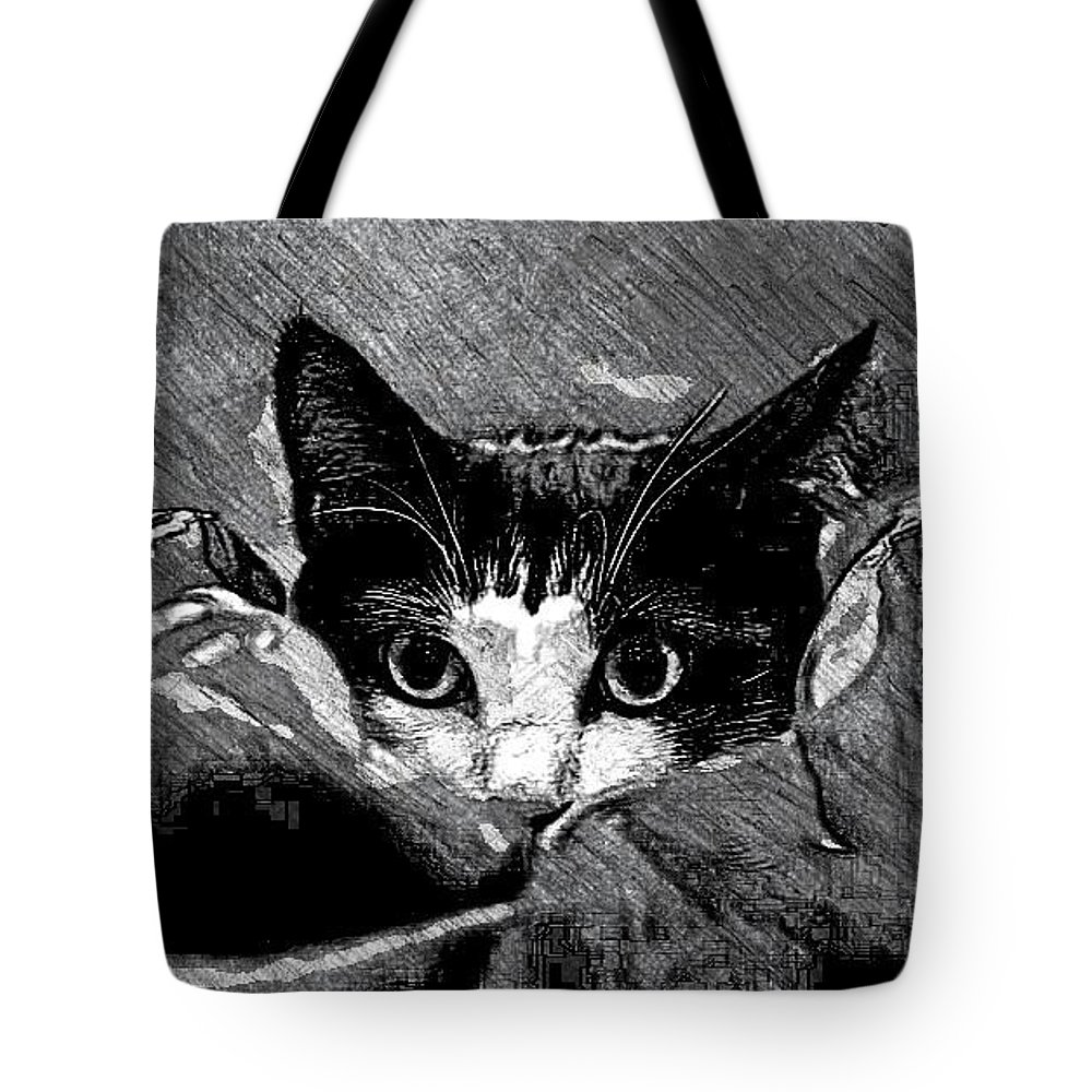 Hiding Tote Bag featuring the photograph Peekaboo by Kathleen Odenthal
