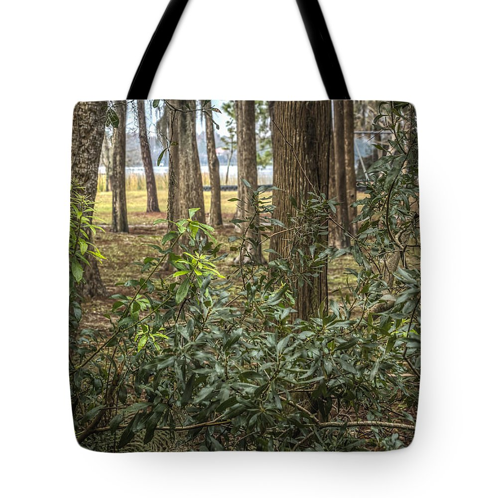 Florida Tote Bag featuring the photograph Peeking Through The Trees by Jane Luxton