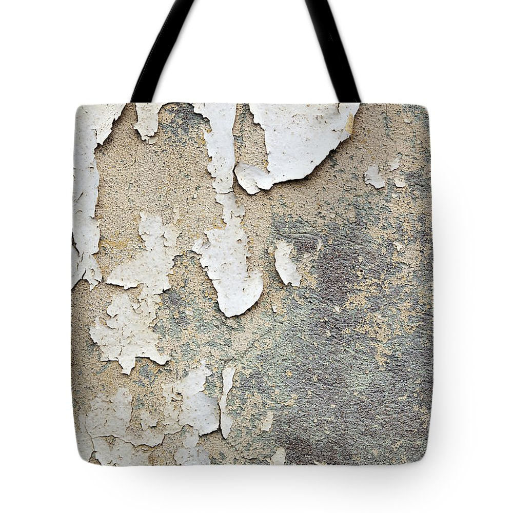 Concrete Wall Tote Bag featuring the photograph Peeling Paint Background by Tim Hester