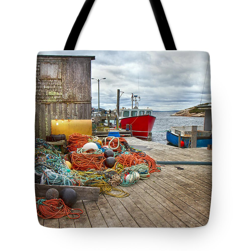 Peggy's Tote Bag featuring the photograph Peggy's Cove 17 by Betsy Knapp