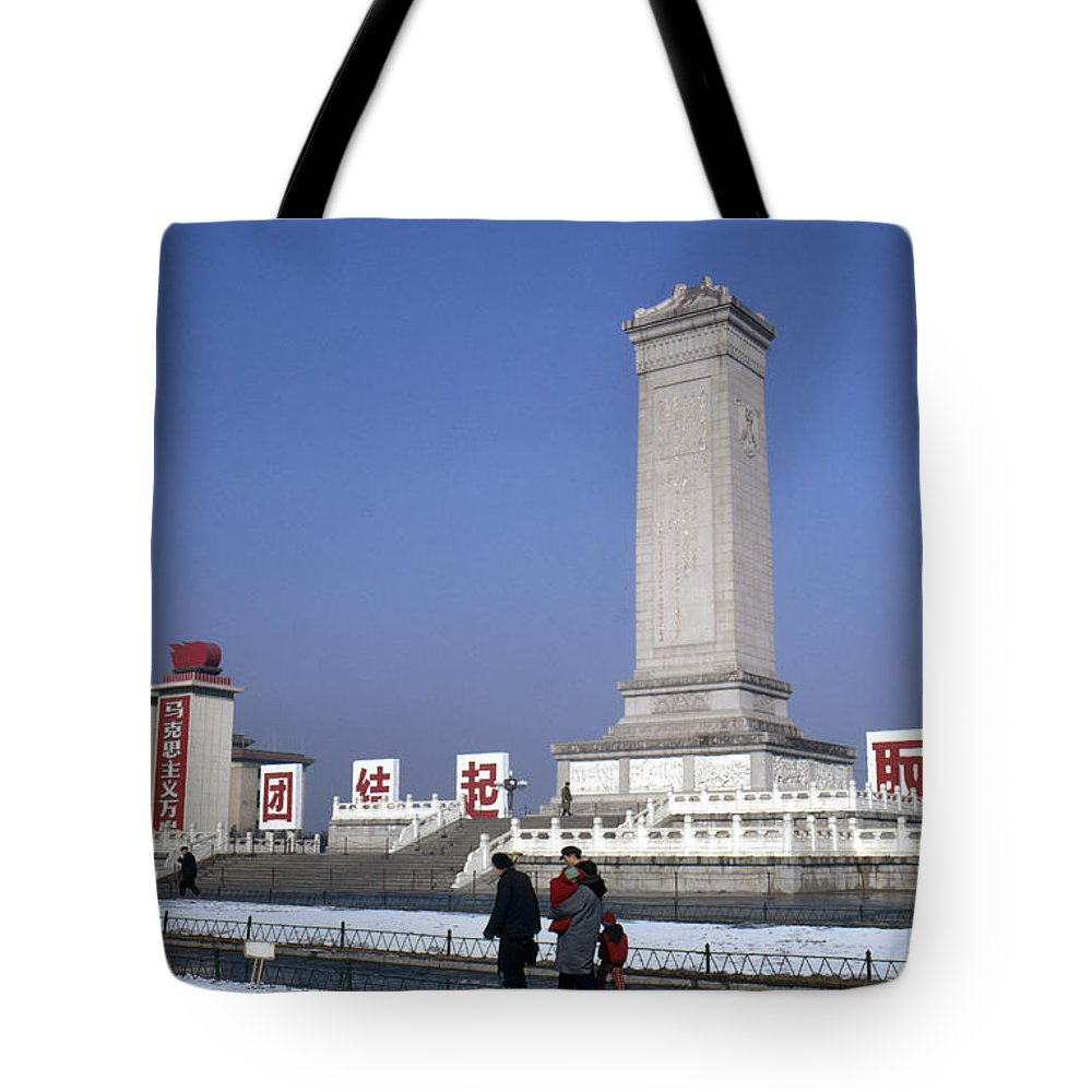 1970 Tote Bag featuring the photograph Peking: Monument, C1970 by Granger