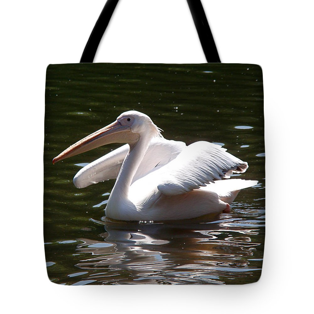 Great White Pelican Tote Bag featuring the photograph Pelican And Friend by Rona Black