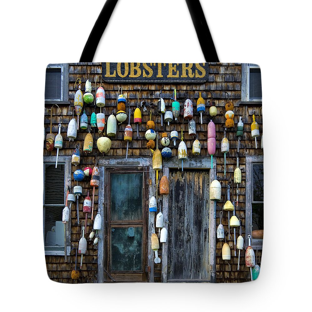 Bouys Tote Bag featuring the photograph Pemaquid Lobster Shack by Diana Powell