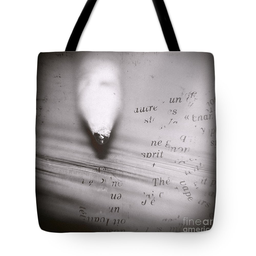Pencil Tote Bag featuring the photograph Pencil Dilemma by Trish Mistric