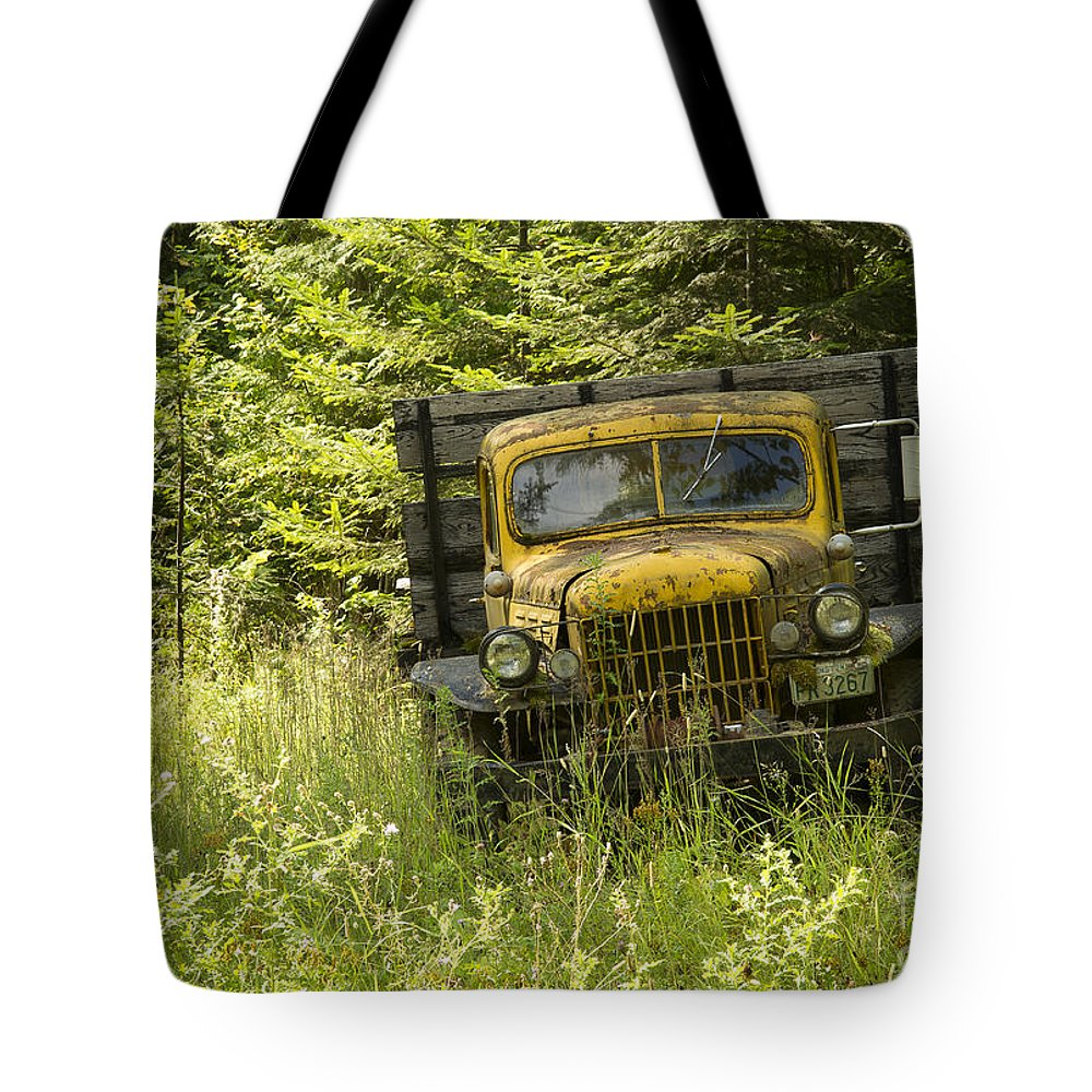 Northeast Washington Tote Bag featuring the photograph Pend Oreille Power Wagon by Idaho Scenic Images Linda Lantzy