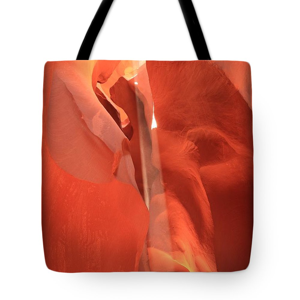 Arizona Slot Canyon Tote Bag featuring the photograph Penetrating Beam by Adam Jewell