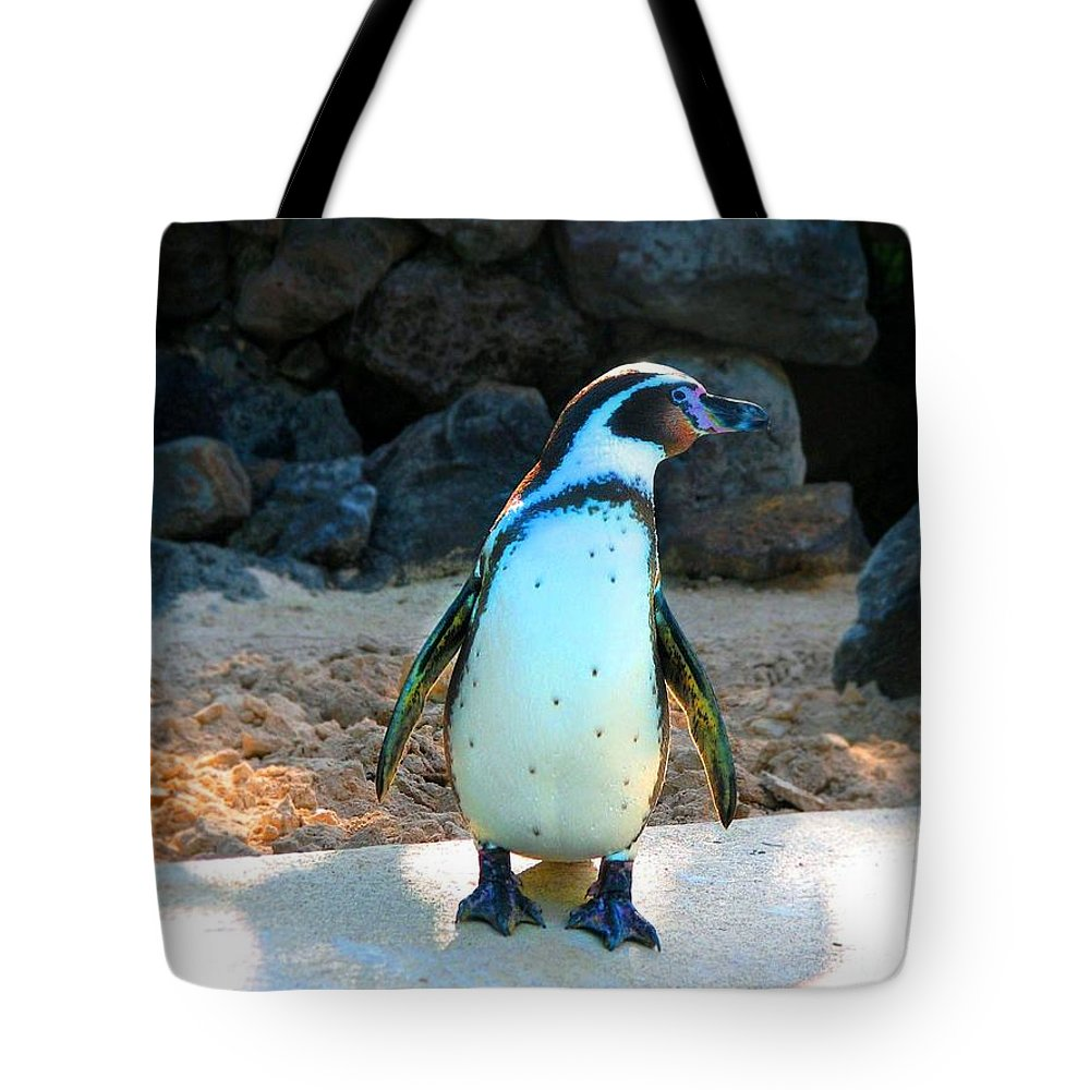 Penguin Tote Bag featuring the photograph Penguin by Kristine Merc